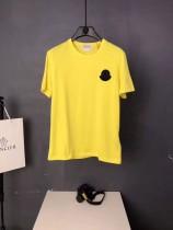 Mon 口 男女同款  小企鵝貼章 純棉 短袖T恤