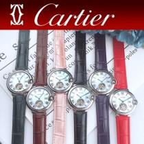 CARTIER-317 卡地亞 CARTIER藍氣球系列女玫瑰金表 陀飛輪機械女表