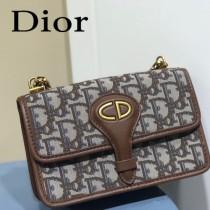 DIOR  迪奧型號M5871-01小號 原版皮Oblique郵差包