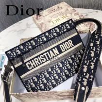 Dior Oblique刺绣帆布手拿包