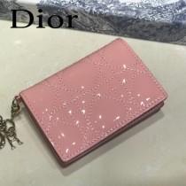 DIOR迪奧 編號0011-05原版皮新款Lady Dior藤格紋漆皮革翻蓋式卡套