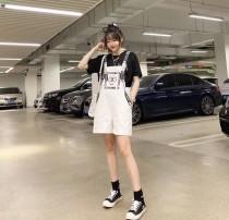Chanel小香中古背帶白色連體短褲