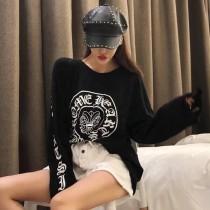 克羅心新款街頭歐美範衛衣~上身秒變酷酷女孩 穿起來挎挎酷酷的 百搭實