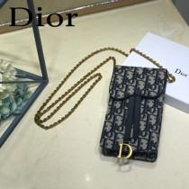 DIOR迪奧原版皮新款Oblique系列手機包-01