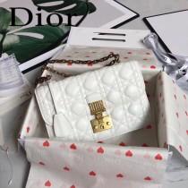 DIOR迪奧原版皮新款DIORADDICT藤格紋小羊皮翻蓋式手提包-05