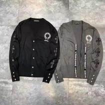 新款開衫毛衣重工制作 超多細節雙袖經典十字架pu皮縫制男女同款
