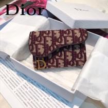 DIOR迪奧原版皮小卡包  Oblique Saddle卡包 零錢包-02