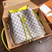 N40152  白格原版皮 NEONOE手袋   新潮水桶包