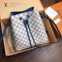 N40151  白格原版皮 NEONOE手袋   新潮水桶包