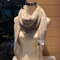 DIOR迪奧 針織毛線菱形圍巾 披肩