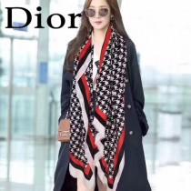 Dior最新的專櫃主打款 幾何印花 羊絨長巾100%純羊絨
