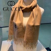 GUCCI古奇專櫃新款 小蜜蜂刺繡羊絨圍巾