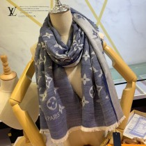 LV新款牛仔藍長巾