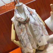 HERMES愛馬仕圍巾披肩兩用款原單絲羊絨長巾