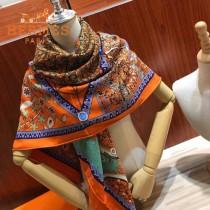 Hermes愛馬仕高端重磅人字紋絲羊絨方巾專櫃新款