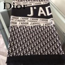 Dior迪奧原單暗紋提花羊絨方巾