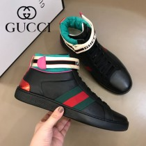 GUCCI 原單 Fw New Ace 字母logo 魔術貼高幫鞋