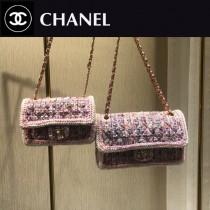 CHANEL1116-6 CHANEL香奈兒 毛呢珠片編織原版皮鏈條包