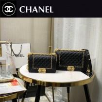 67085-8 Chanel 專櫃最新款Leboy 鐵鏈編織包