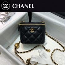 CHANEL-01 香奈兒原版皮新款 小號經典鏈子盒型手袋