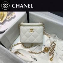 CHANEL-03 香奈兒原版皮新款 小號經典鏈子盒型手袋