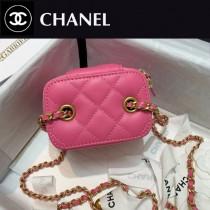 CHANEL-04 香奈兒原版皮新款 小號經典鏈子盒型手袋