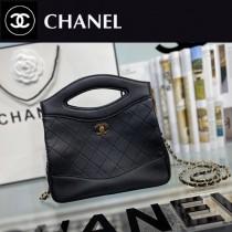 CHANEL香奈兒 A9196-04  原版皮 mini手拿包 手提包 链条包