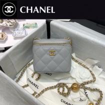 CHANEL-05 香奈兒原版皮新款 小號經典鏈子盒型手袋