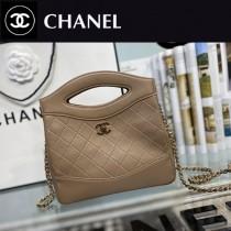 CHANEL香奈兒 A9196-03  原版皮 mini手拿包 手提包 链条包