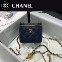 CHANEL-06 香奈兒原版皮新款 小號經典鏈子盒型手袋