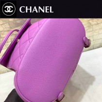 CHANEL-03 香奈兒 2020早春新款進口原版球紋牛皮 淺金背包 雙肩包