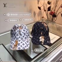 LV 路易威登LV原單帽子動物系列logo棒球帽,個性十足 高端大氣 休閑又有範 百搭款 時尚達人必備款
