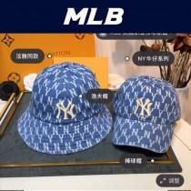 MLB老花牛仔漁夫帽 2020大爆款 泫雅同款時尚潮流 超級可人的顏色