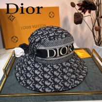 Dior迪奧官網新漁夫帽 字母印花logo 大帽檐遮陽帽,爆款漁夫帽