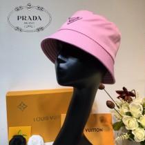 普拉達PRADA新款  櫻花粉漁夫帽