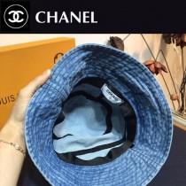 CHANEL 香奈兒水洗牛仔漁夫帽