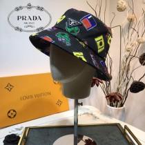 普拉達PRADA新款印花漁夫帽,原單代購版本,百搭新款