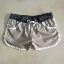 夏休閑沙灘褲女短褲 速幹彈力度假健身舒適跨境外貿 居家運動泳褲
