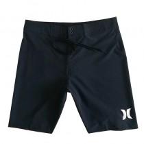 純黑色男士沙灘褲 健體比賽服沙灘短褲齊膝大碼 休閑沖浪五分男褲