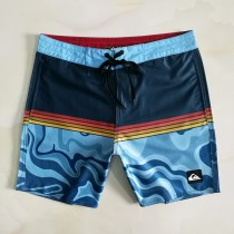 男士沙灘褲熱銷 寬松 彈力速幹運動沖浪四分褲 夏季男褲