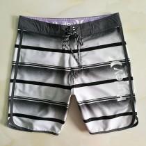 男士鍵體比賽運動 海邊沙灘褲短褲 寬松大碼彈力沖浪五分褲潮男裝