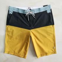 沙灘休閑男短褲小加大碼原單彈力桃皮絨速幹夏外貿褲