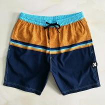 新款短褲沙灘褲男速幹 寬松休閑居家大碼松緊好貨 春夏外貿色