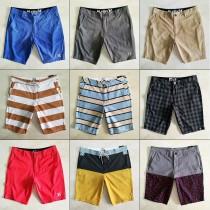 夏季跨境外貿男褲沙灘褲 寬松居家海邊沖浪薄款 中短西褲休閑泳褲