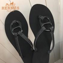 Hermes-03  度假系列豬鼻子夾趾鞋 沙灘鞋