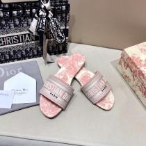 Dior-15  代購頂級春夏膠囊系列立體刺繡度假平底字母拖