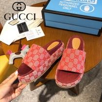 GUCCI-004 新款 最新限量版Gucci Summer厚底拖鞋