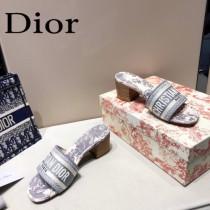 Dior-03  代購頂級春夏膠囊系列立體刺繡度假字母拖