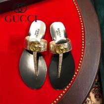 GUCCI-01  頂級版本春夏新款G字母T型夾趾涼拖