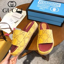GUCCI-001 新款 最新限量版Gucci Summer厚底拖鞋